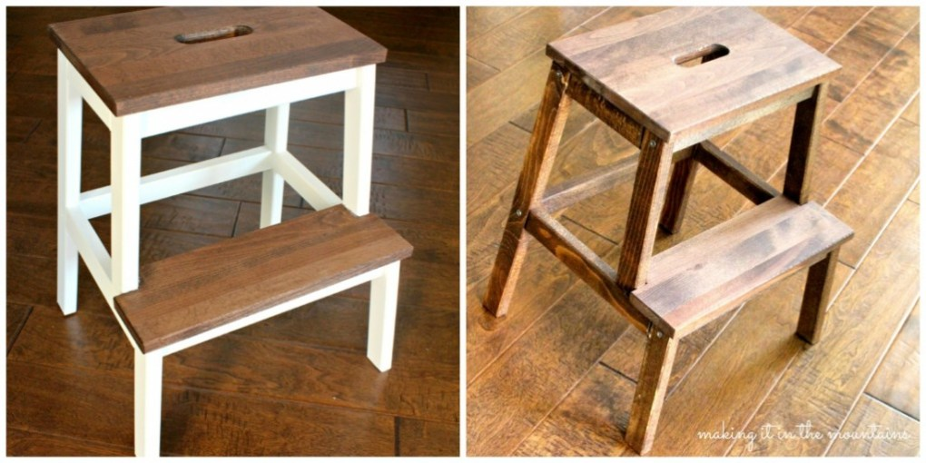 Collage Ikea Stool Makeover @ making it in the mountains