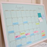 How I Organized My Life with this DIY Aqua & Gold Chalkboard Calendar