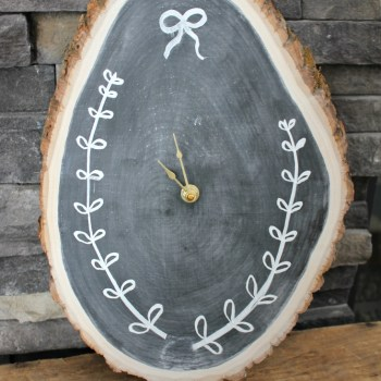 Wood Slice Clock :: making it in the mountains