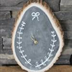 November DIY Challenge :: Wood Slice Chalkboard Clock
