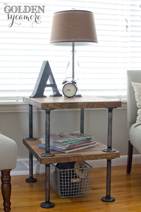 DIY Industrial End Table