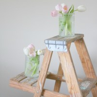 Monthly DIY Challenge: Frosted Dollar Store Vases