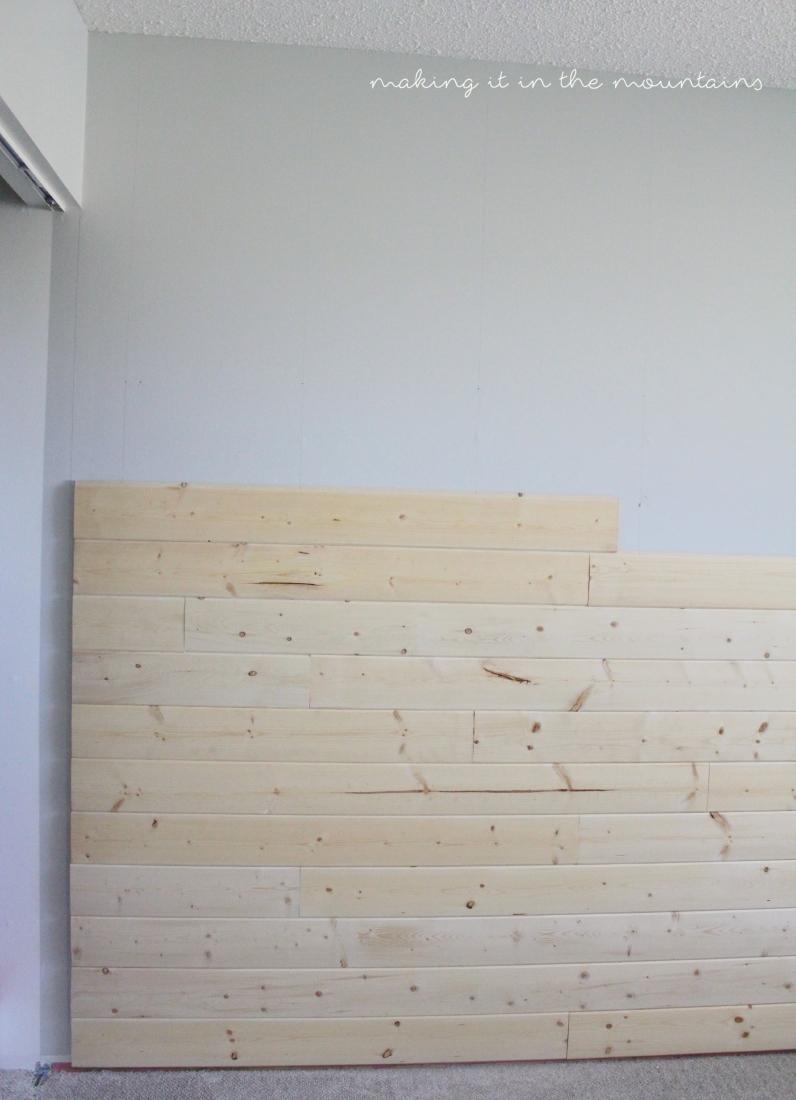 One Room Challenge: Plank Wall Progress