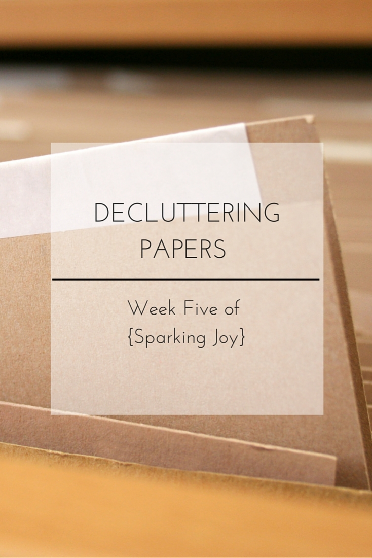 Decluttering and Organizing All things Paper: Week Five of {Sparking Joy}