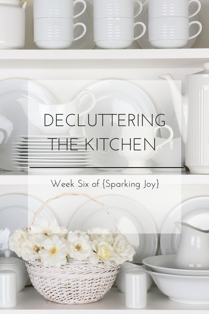 Decluttering and Organizing the Kitchen: Week Six of {Sparking Joy}