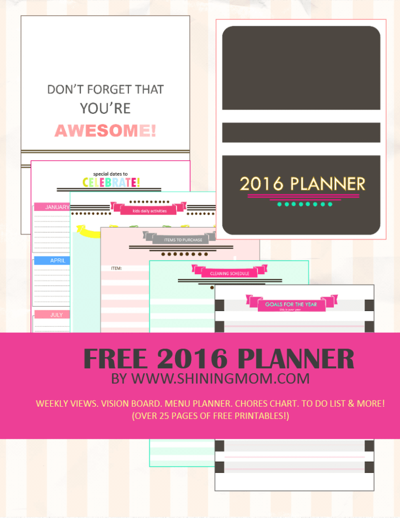 Organized Calendar Planner : Free calendars to get you organized for the new