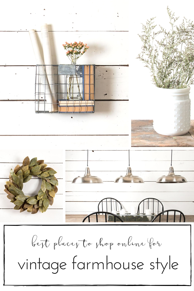 Best places to shop authentic vintage farmhouse style home for Best online shopping for home decor