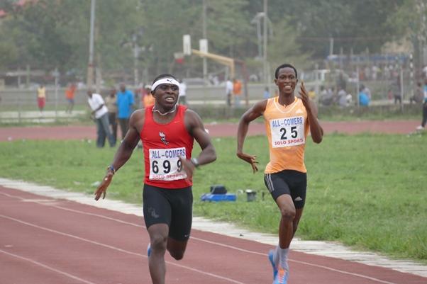 Noah Akwu won his final in the men's 400m event.