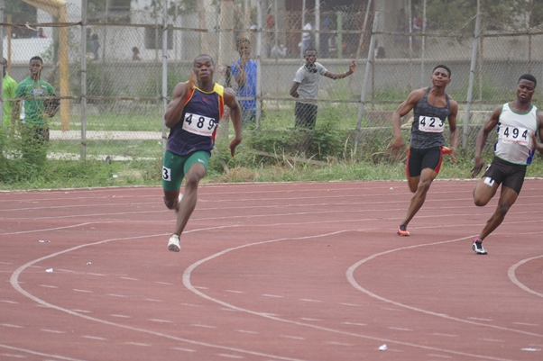 Thankgod Igube gave a good account of himself at the National Youth Trials.