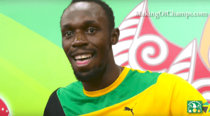 Usain Bolt - after 4x100m GOLD
