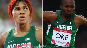 Blessing Okagbare and Tosin Oke