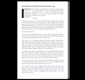 AllThingsD with Safari Reader