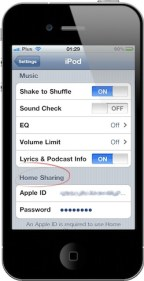 iTunes Home Sharing iPhone 01