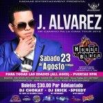 Evento: J Alvarez @ House of Blues (Orlando, FL) (23 de Agosto)