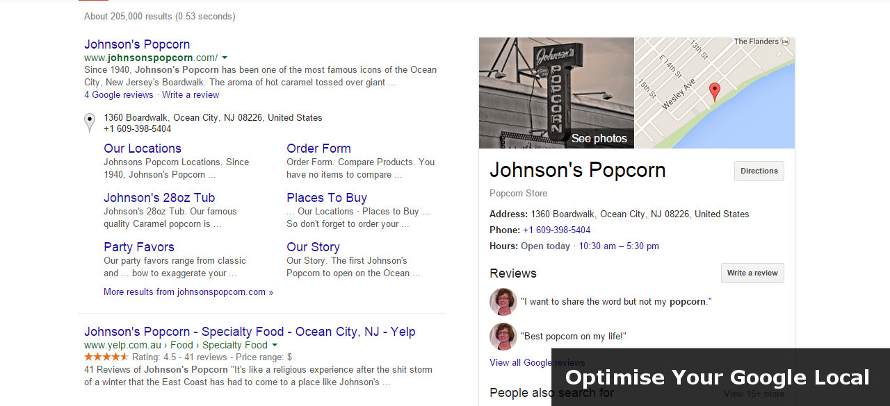 Google Business Places Optimization