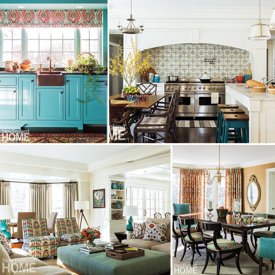 Rousing Turquoise Front Door Turquoise Pinterest House Turquoise Mally Skok Design Interior Designer Boston House House Turquoise House houzz-03 House Of Turquoise