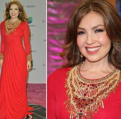 El Look de Thalia en Premios Lo Nuestro