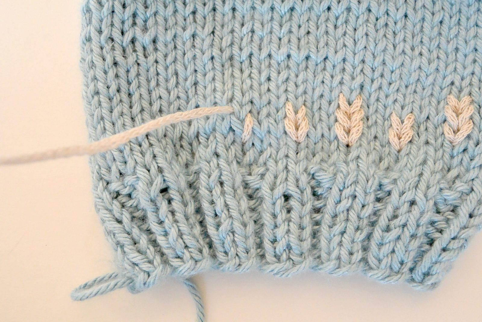 Embroider on Knit Tutorial   Duplicate Stitch