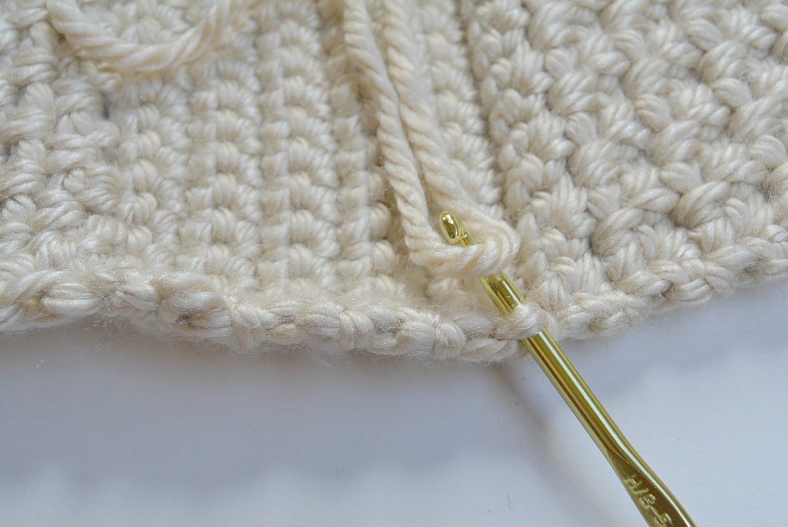 Crochet in back loop