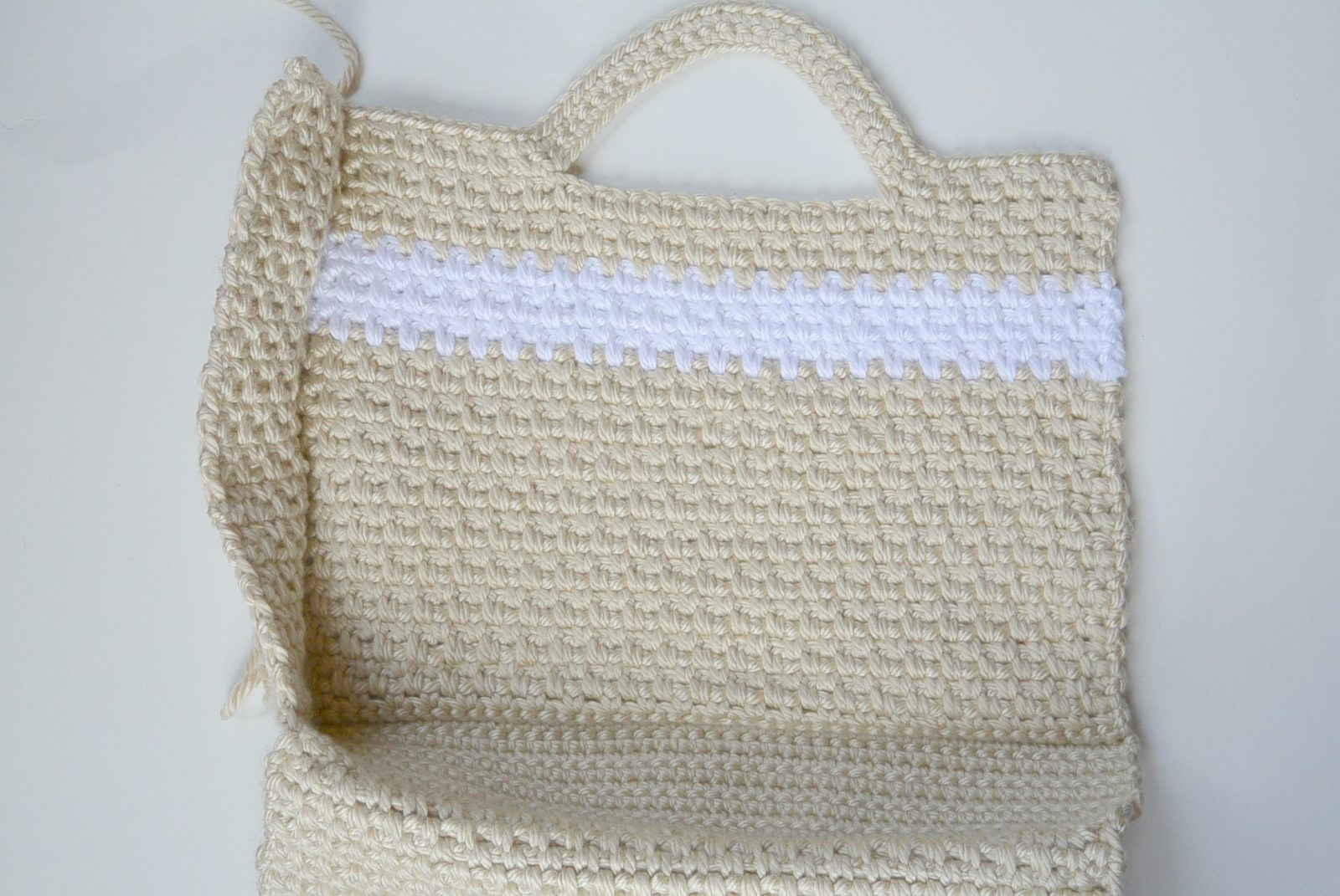 How To Crochet A Bag : This is how the purse looks when it is coming together. You start with ...