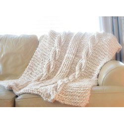Small Crop Of Cable Knit Blanket