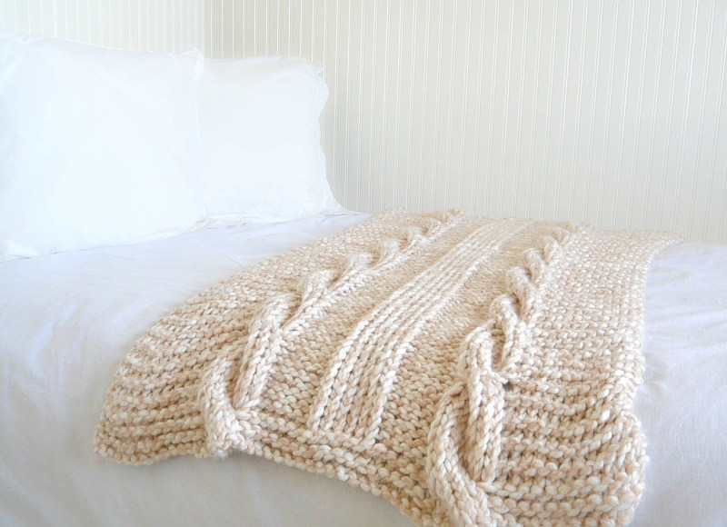 Large Of Cable Knit Blanket
