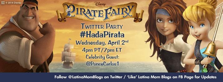 Come to the Pirate Fairy Twitter Party / Ven a una Fiesta Pirata #HadaPirata