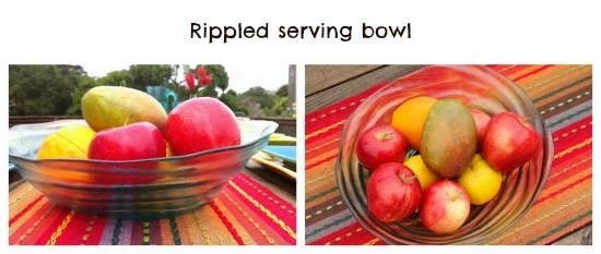 Rippled serving bowl by Pier1 - mamalatinatips.com