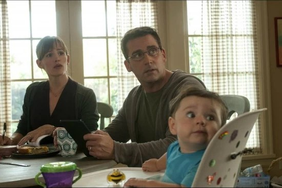 Mom, Dad and Trevor in the Disney Movie, Alexander and the terrible, horrible, no good, very bad day