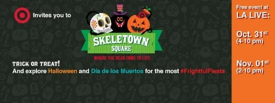 Skeletown Square Target Festival for Day of the Dead