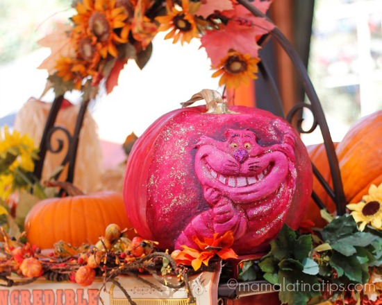 pumpkin at Disneyland - Cheshire Cat