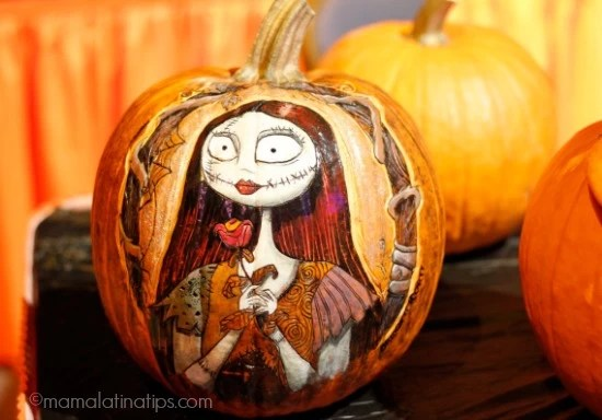 pumpkin at Disneyland - Sally Skellington