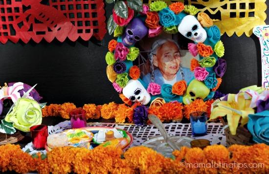 Foto en altar de Día de Muertos