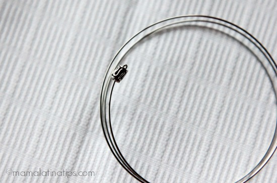 End bead memory bracelet