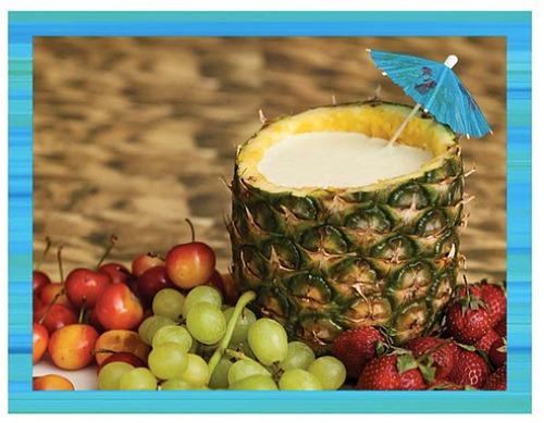 Orange-Pineapple yogurt dip - teen beach inspired party - mamalatinatips.com
