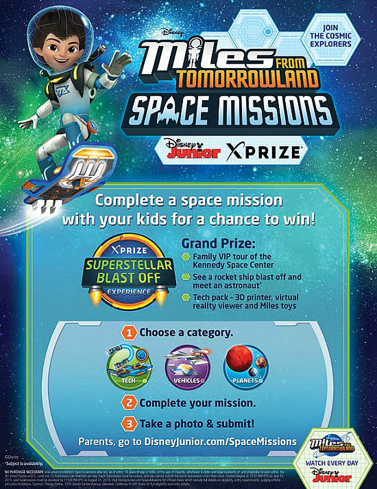 Miles Tomorrowland Space Missions Poster