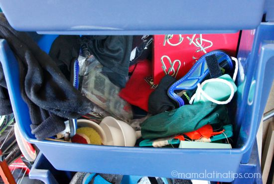 messy sports bin