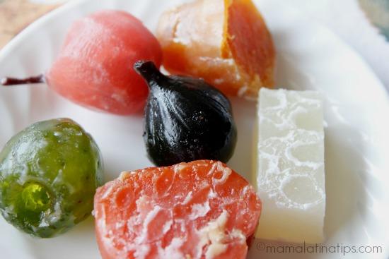 fruta cristalizada - mamalatinatips.com