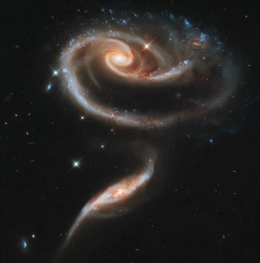 A rose made of galaxies taken by Hubble Telescope