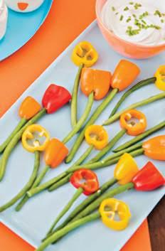 Flores de verduras para niños - mamalatinatips.com