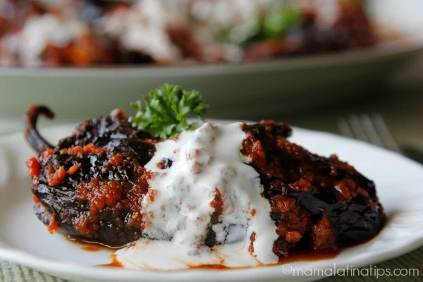Turkey Stuffed Chile Ancho
