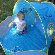 Eté 2015: bébé protégé grâce à l'aire de jeu anti uv 123 Soleil de Ludi (+ concours)