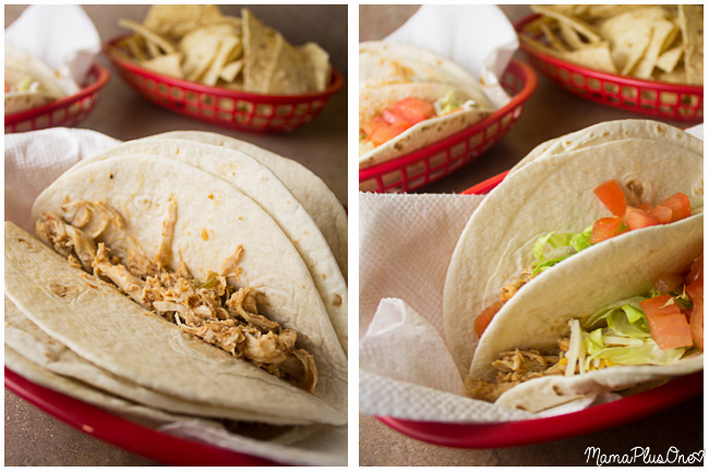 These chicken street tacos are simple enough to make any night of the week, and are perfect for Taco Tuesday. They're so flavorful, and easy to make in your slow cooker. | slow cooker | chicken dinner | taco night | crock pot |