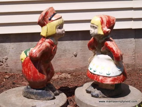 Dutch Boy and Girl Garden Statues