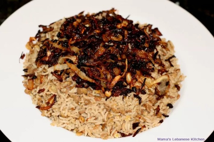 Paleo Caramelized Onions and Lentil Rice