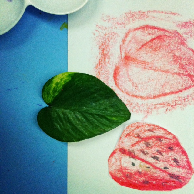 from leaf to strawberry