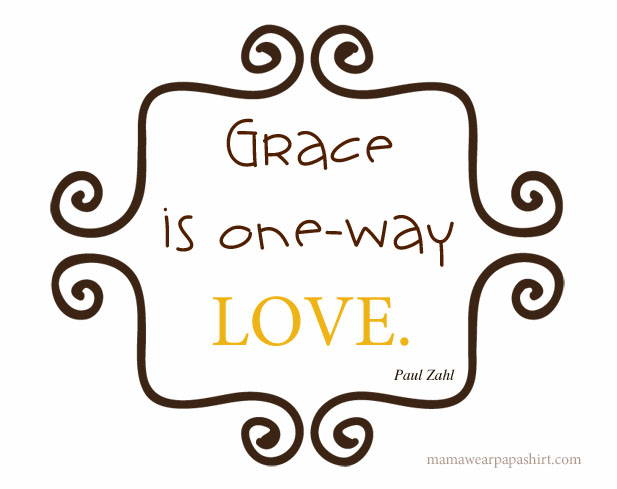 grace is one way love