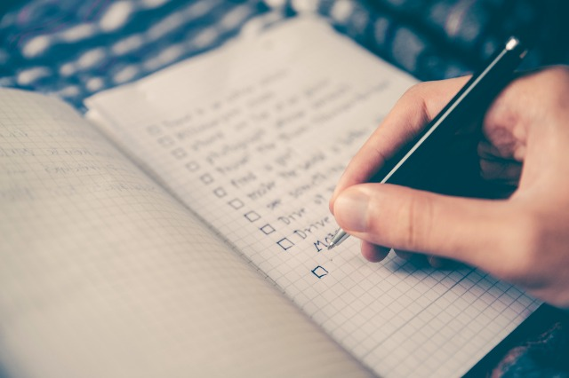 prioritize your tasks with a to-do list
