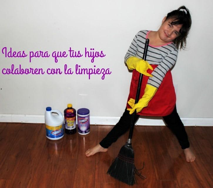 Ideas para que tus hijos limpien
