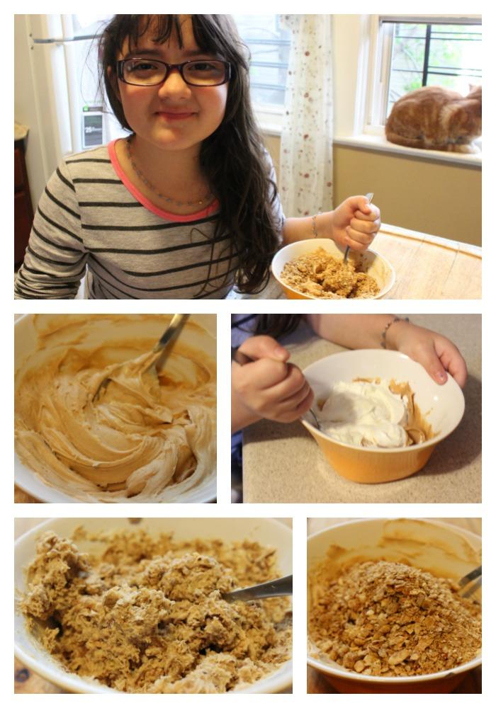 mantequilla de maní, bombón, bombones, cereales, almendras, crema